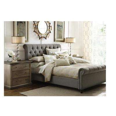 Beau Gordon Grey King Sleigh Bed