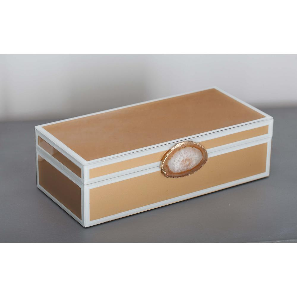 Modern Elegance Wood and Glass Agate Jewelry Box in Gold-35732 - The Home Depot  sc 1 st  The Home Depot : modern jewelry boxes - Aboutintivar.Com