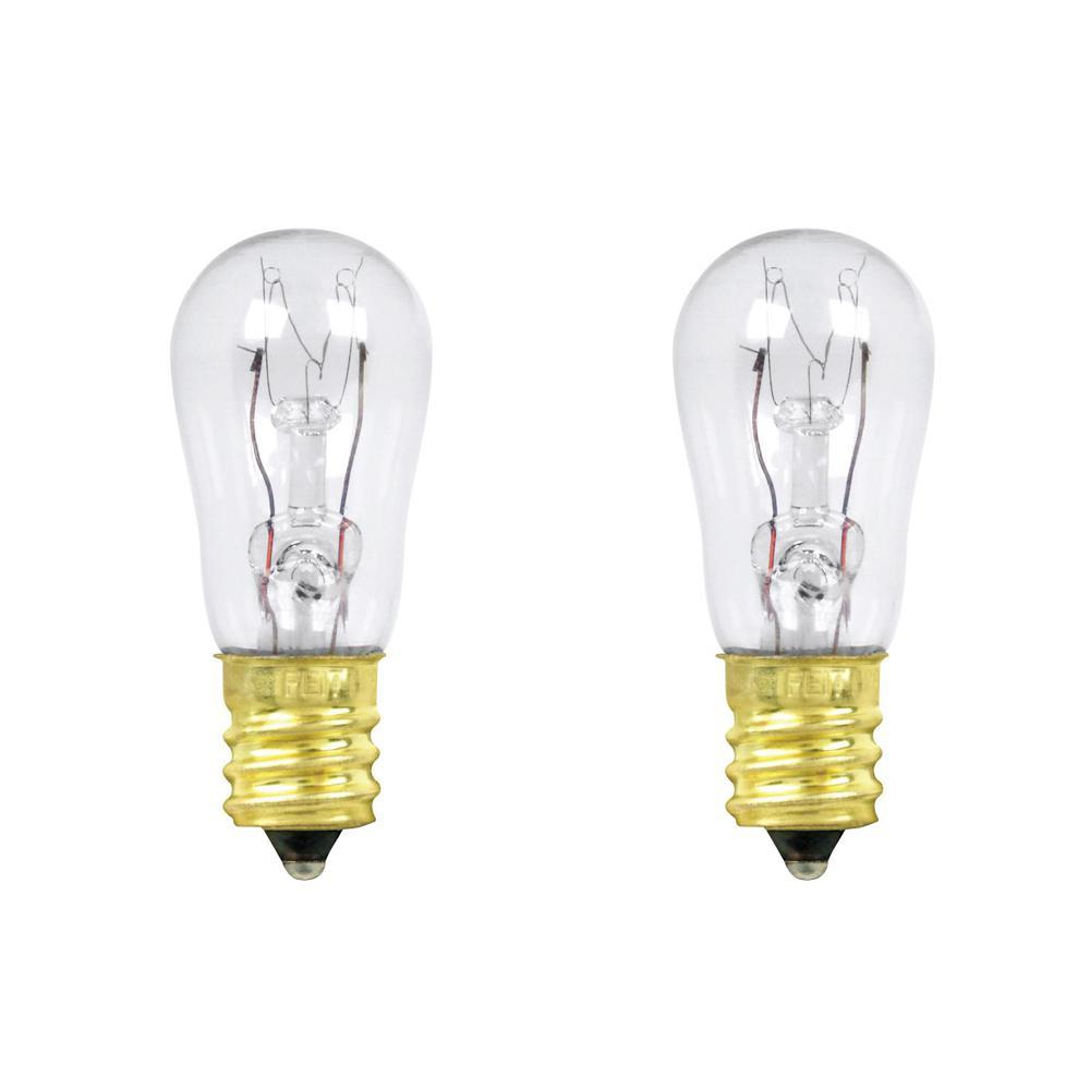 6-Watt Soft White (2700K) S6 Candelabra E12 Base Dimmable Incandescent Light Bulb (2-Pack)