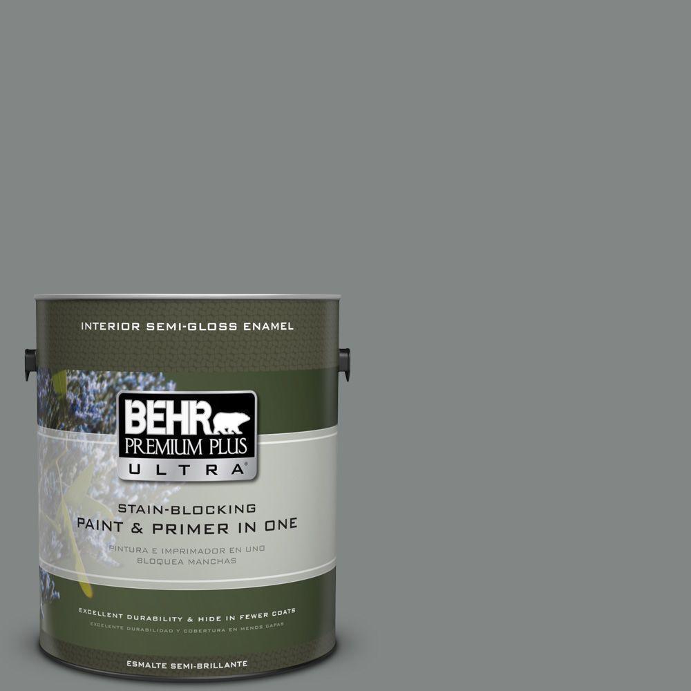 1 gal. #PPU25-17 Euro Gray Semi-Gloss Enamel Interior Paint