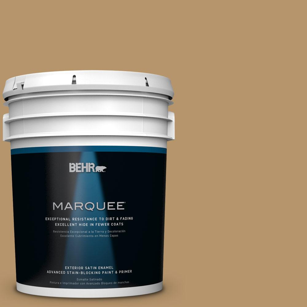 BEHR MARQUEE 5-gal. #BNC-15 Tapestry Gold Satin Enamel Exterior Paint