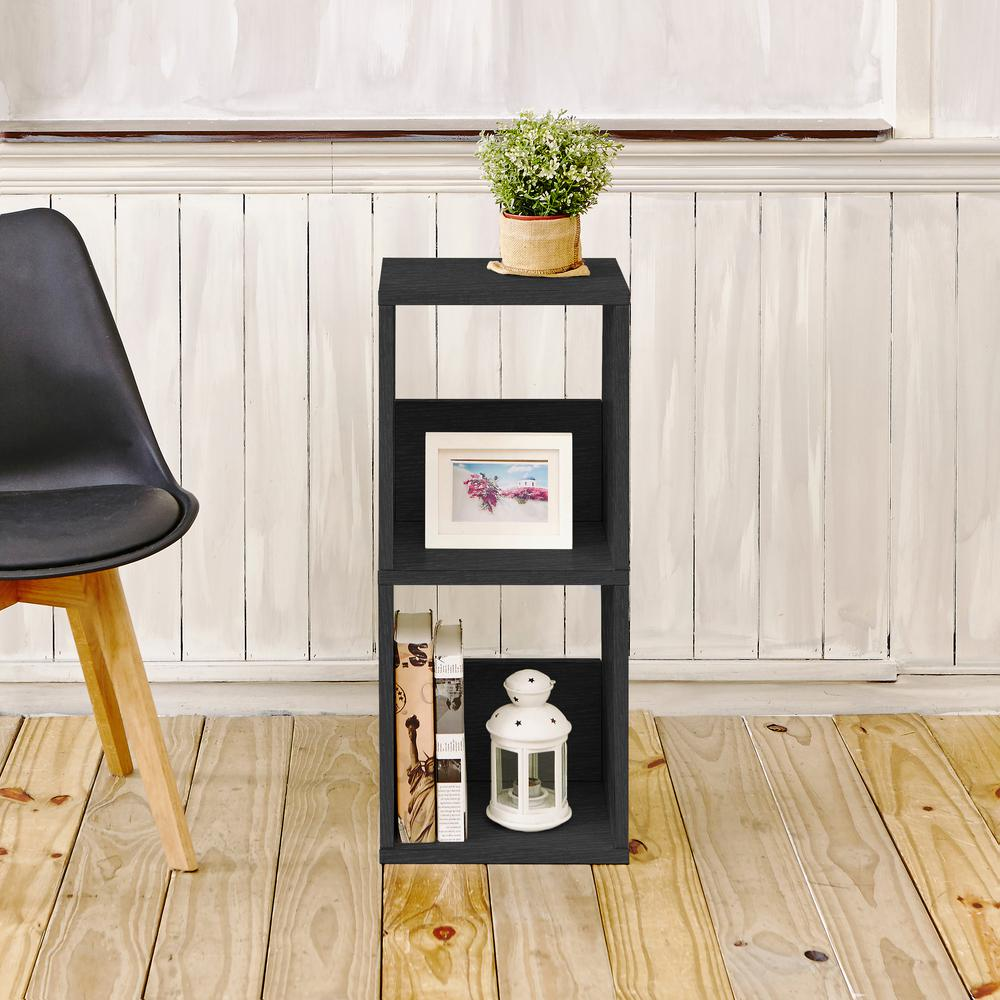 Duo Eco zBoard Tool Free Assembly Black Open Bookcase