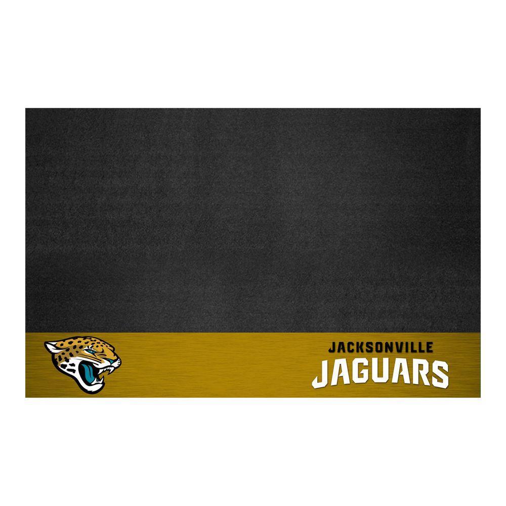 Jacksonville Jaguars 26 in. x 42 in. Grill Mat, Multi