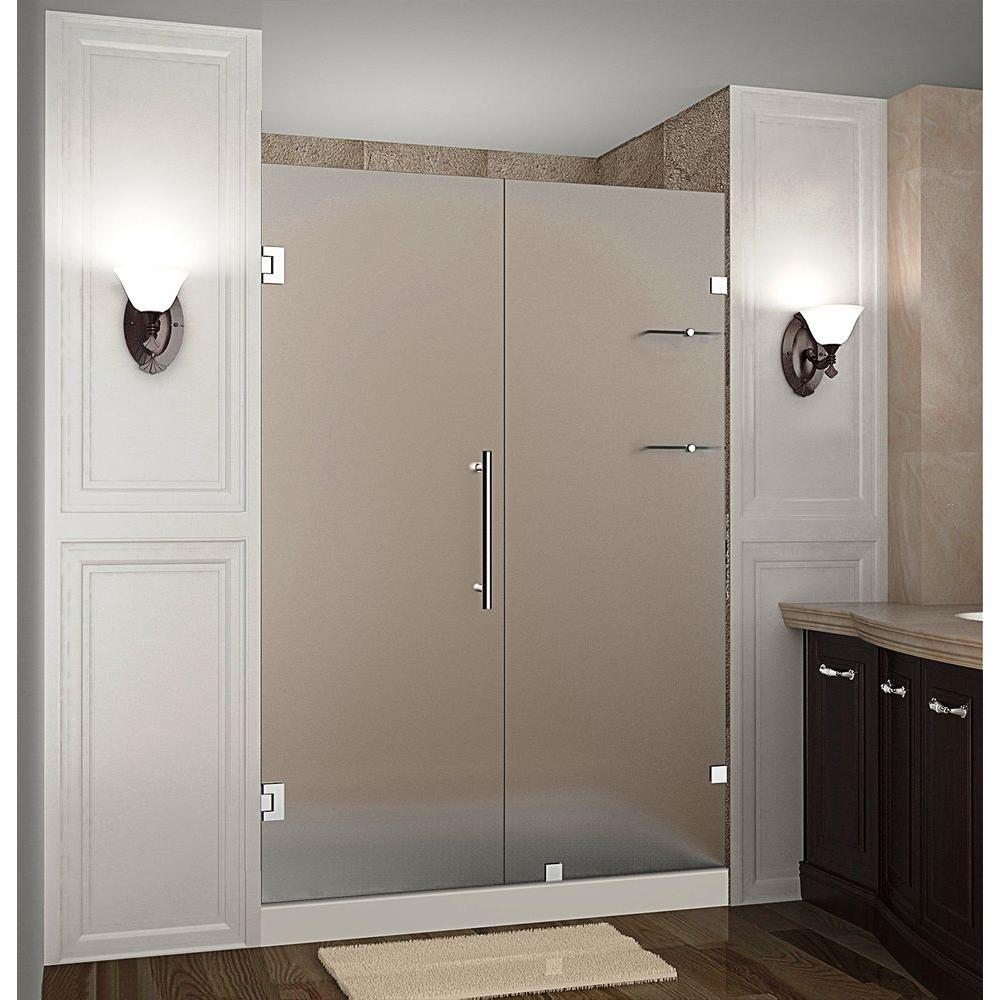 Nautis GS 53 in. x 72 in. Completely Frameless Hinged Shower