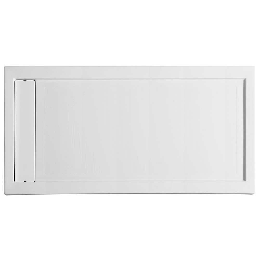 Meadow Series 60 in. x 32 in. Single Threshold Shower Base