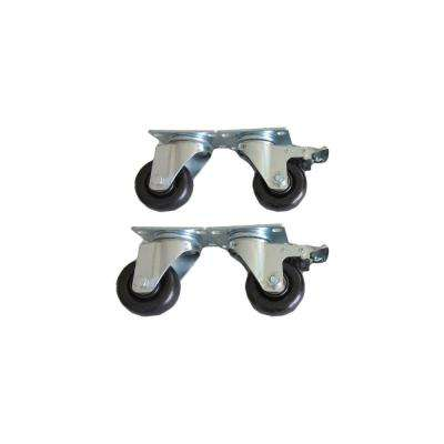 3-in. Outdoor Kitchen Casters for Stainless Steel Classic or Aluminum Slate Cabinets (4-Pack)