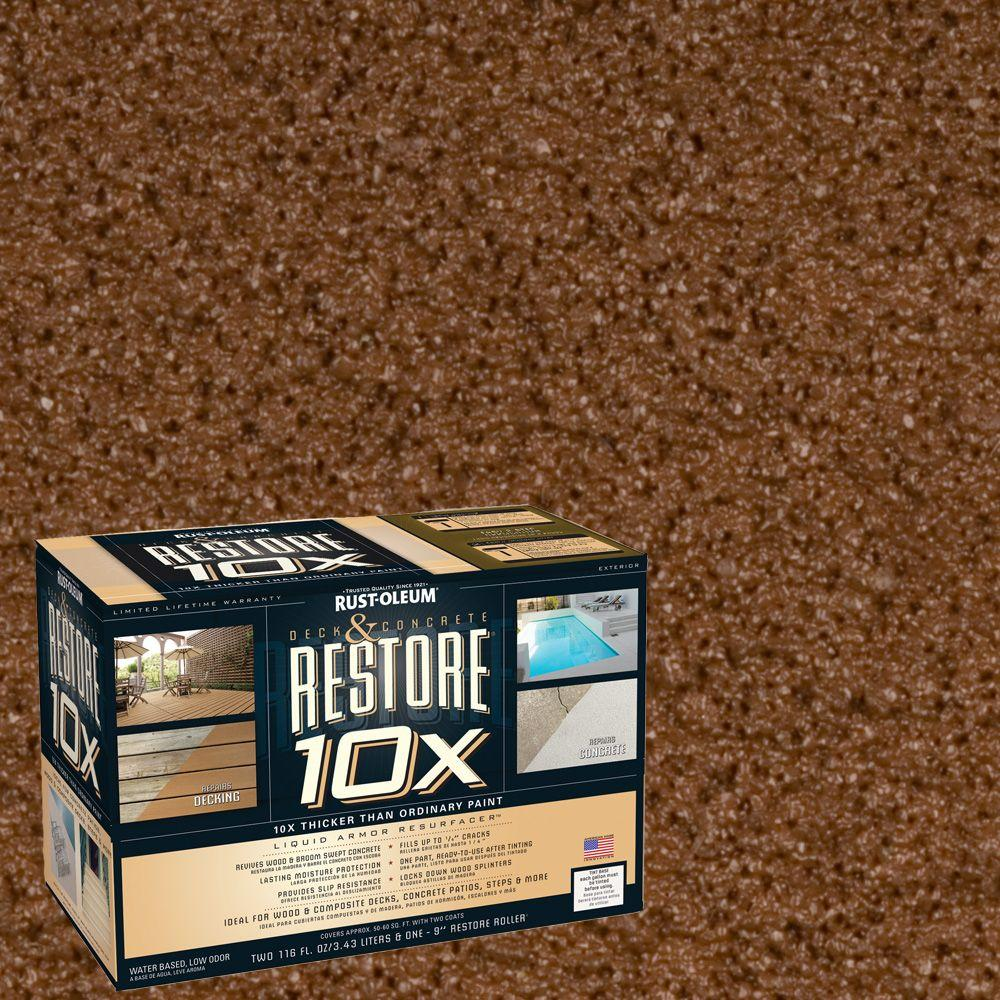 Rust-Oleum Restore 2-gal. Russet Deck and Concrete 10X Resurfacer