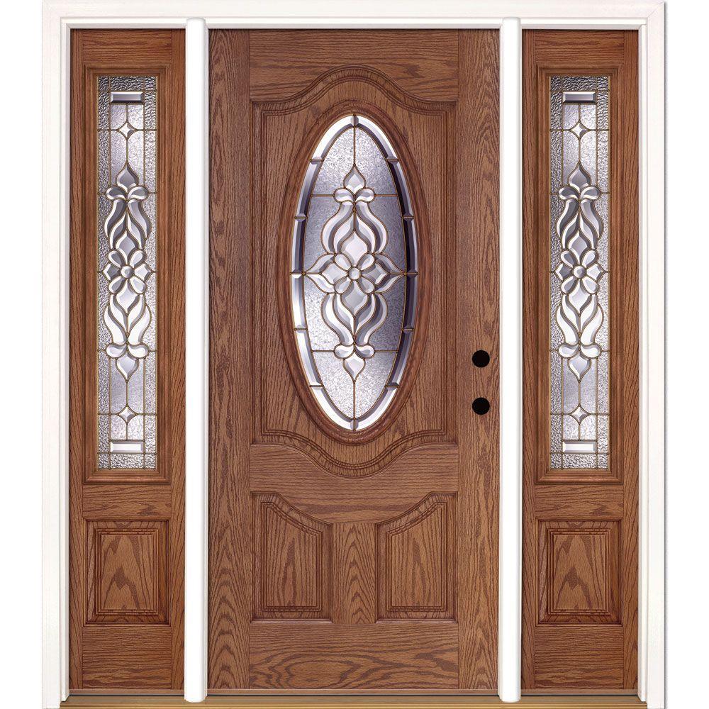 Fiberglass Exterior Doors: Feather River Doors 67.5 In.x81.625 In. Lakewood Brass 3/4