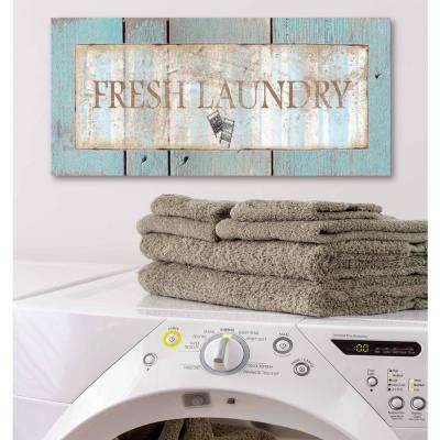"12 in. x 24 in. ""Laundry Room II"" Canvas Printed Wall Art"