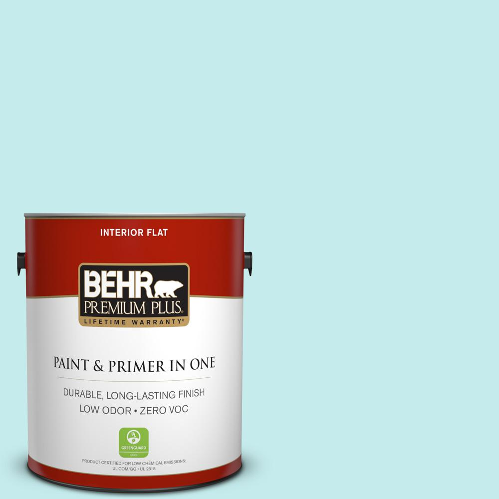 BEHR Premium Plus 1-gal. #P460-1 Morning Sky Flat Interior Paint