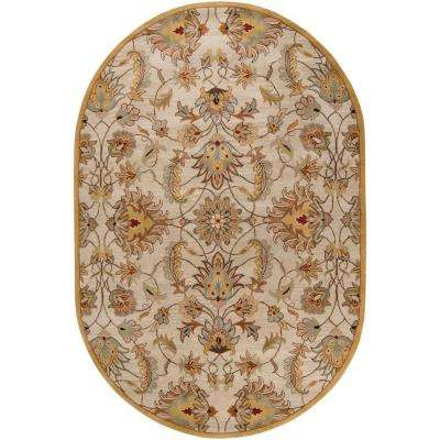 John Gold 6 ft. x 9 ft. Oval Area Rug