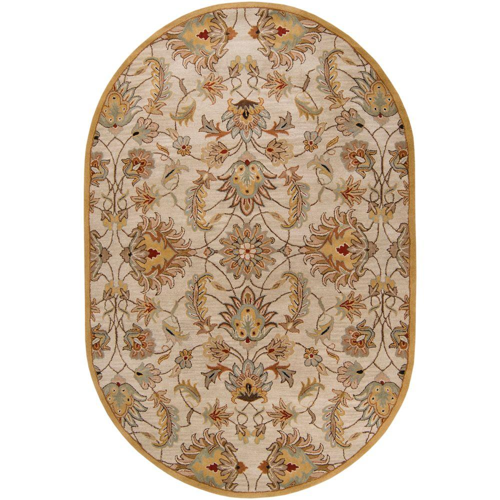 Artistic Weavers John Gold 6 Ft X 9 Ft Oval Area Rug Jhn1029 69ov