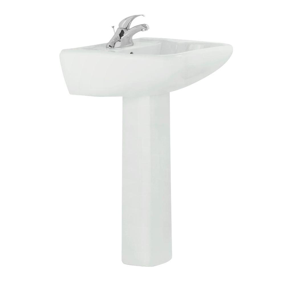 Ordinaire STERLING Southampton Vitreous China Pedestal Combo Bathroom Sink In White  With Overflow Drain