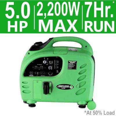 Energy Storm 2,200-Watt 125cc Gasoline Powered Electric Start Power Inverter Generator with Remote CARB
