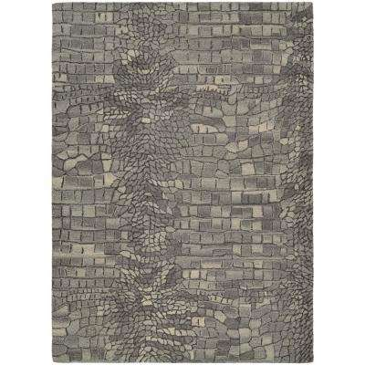 Super Indo-Natural Castle Manor Greystone 6 ft. x 8 ft. Area Rug