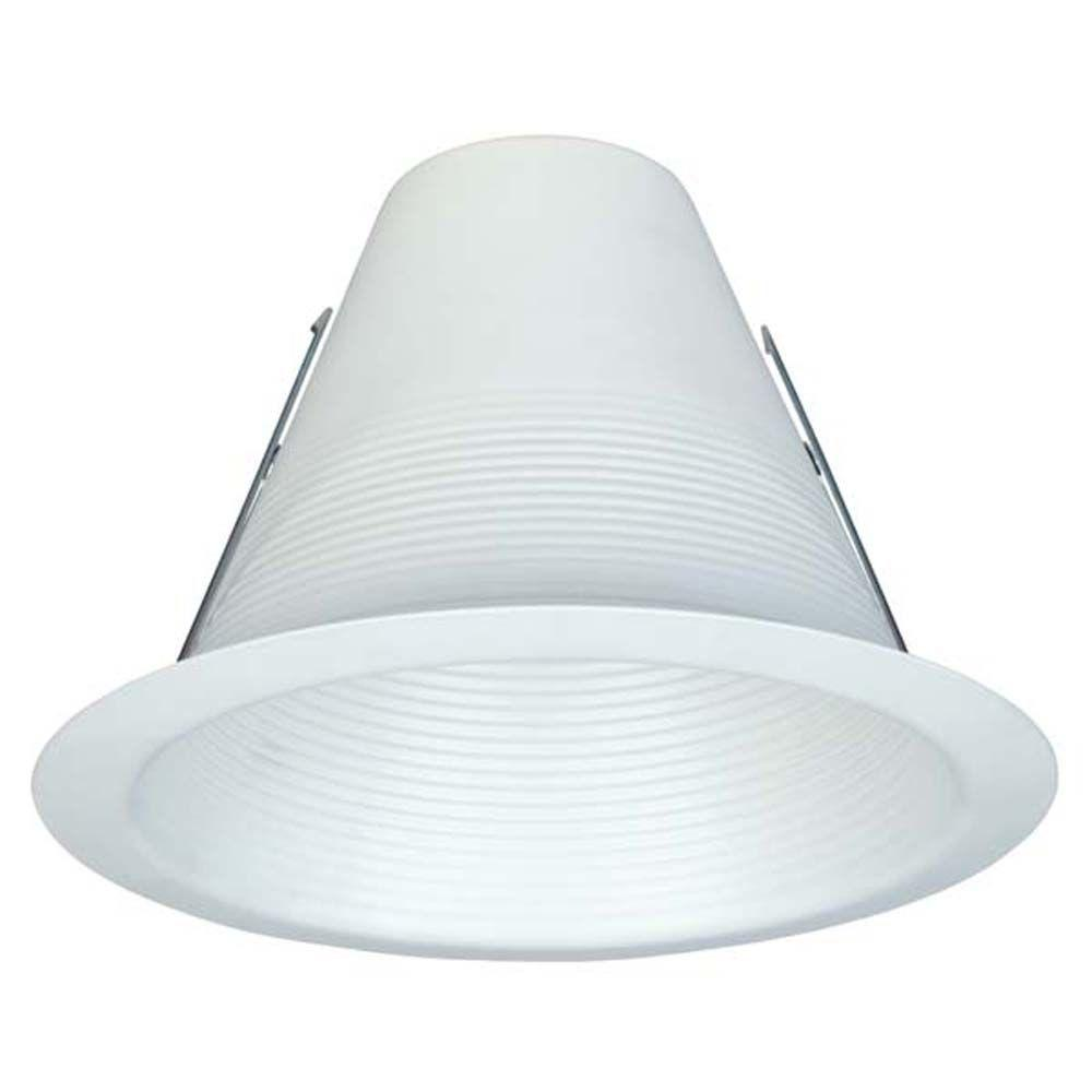 Commercial electric 6 in white airtight recessed baffle trim 6 white recessed airtight baffle trim aloadofball