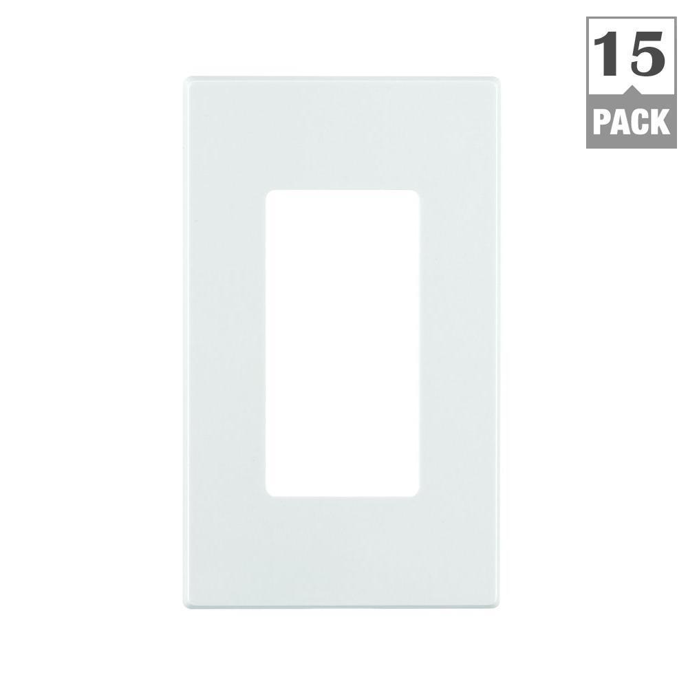 Decora Plus 1 Gang Less Snap On Wall Plate White 15