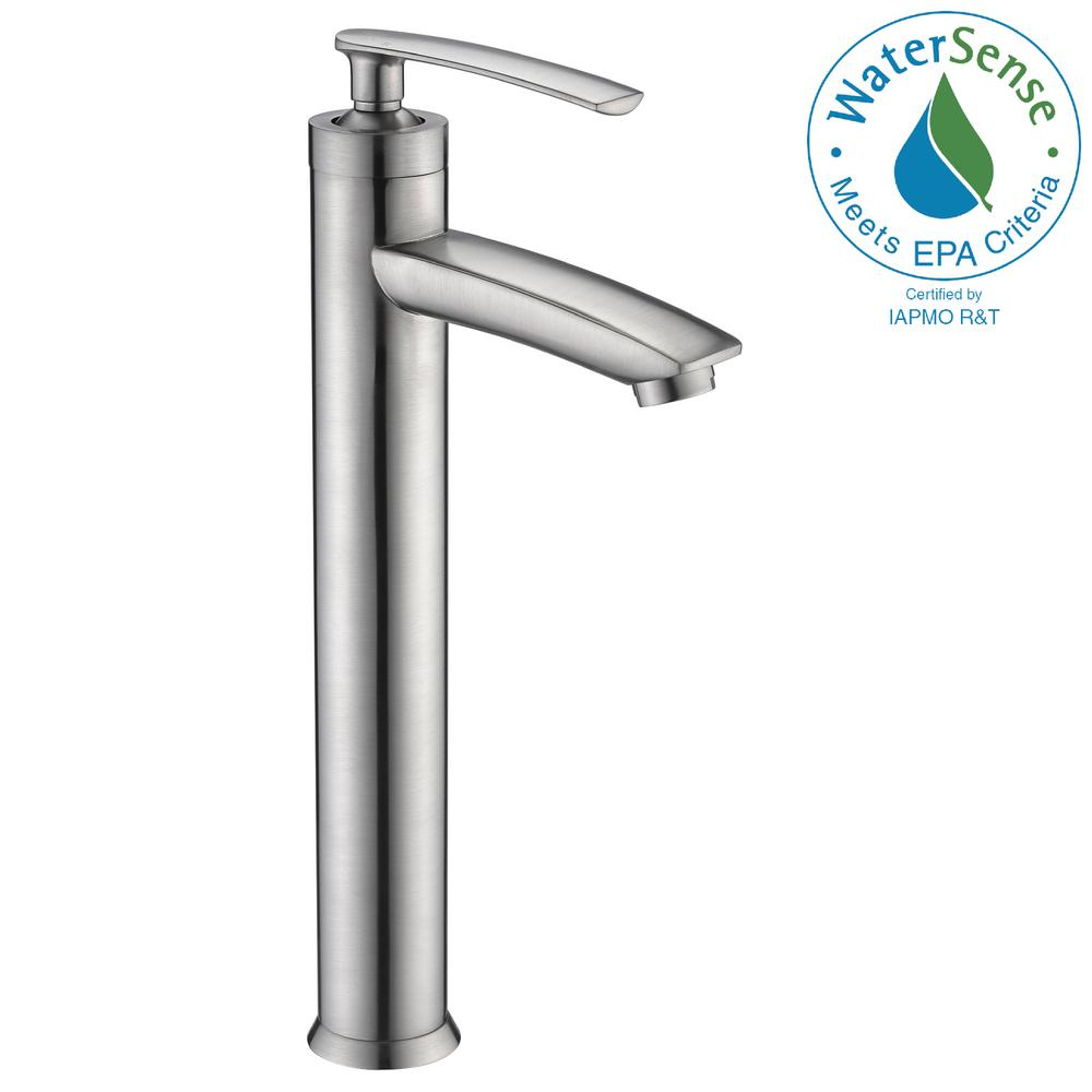 Fifth Single Hole Single-Handle Bathroom Faucet in Brushed Nickel