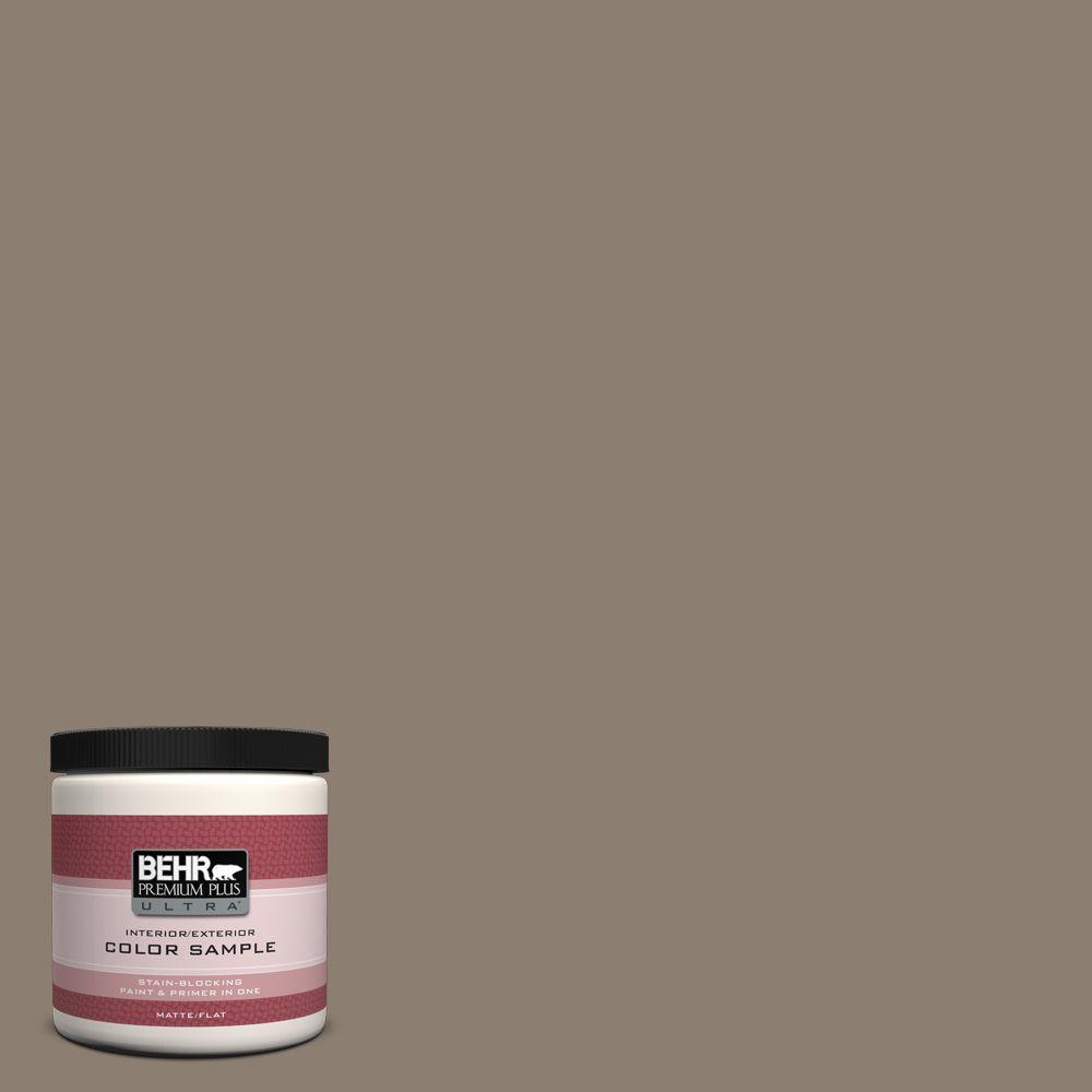 BEHR Premium Plus Ultra 8 oz. #BNC-36 Restful Brown Interior/Exterior Paint Sample