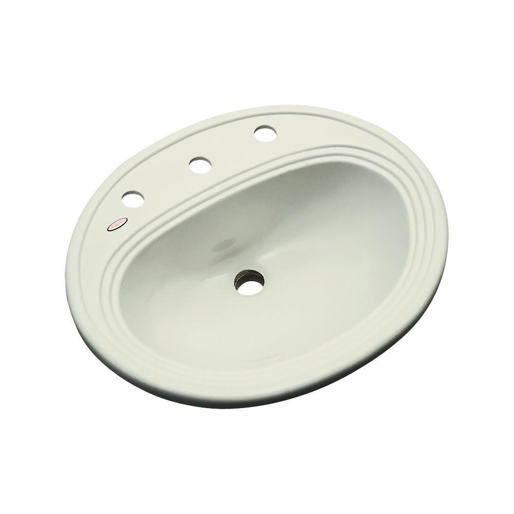 Thermocast Summit Drop-In Bathroom Sink in Jersey Cream
