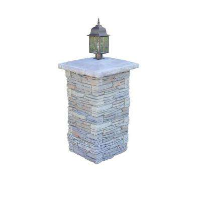 CT Fieldstone Gray Variegated Pier Kit with Light Cap