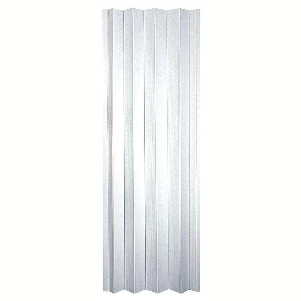 Spectrum 36 in. x 80 in. Oakmont Vinyl Frost-White Accordion Door