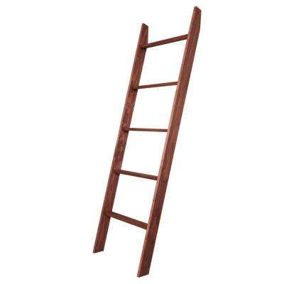 72 in. x 20 in. Dark Cherry Decorative Blanket Ladder