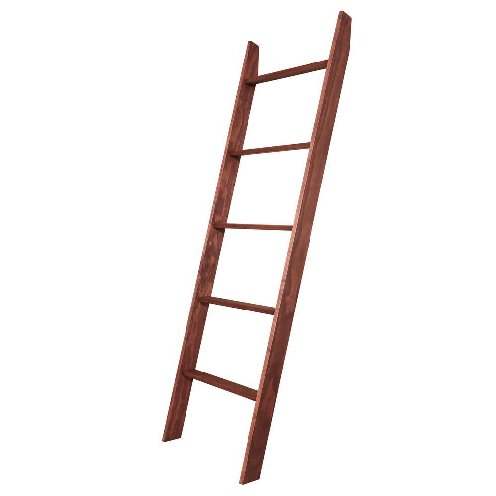 72 in. x 20 in. Dark Cherry Decorative Blanket Ladder