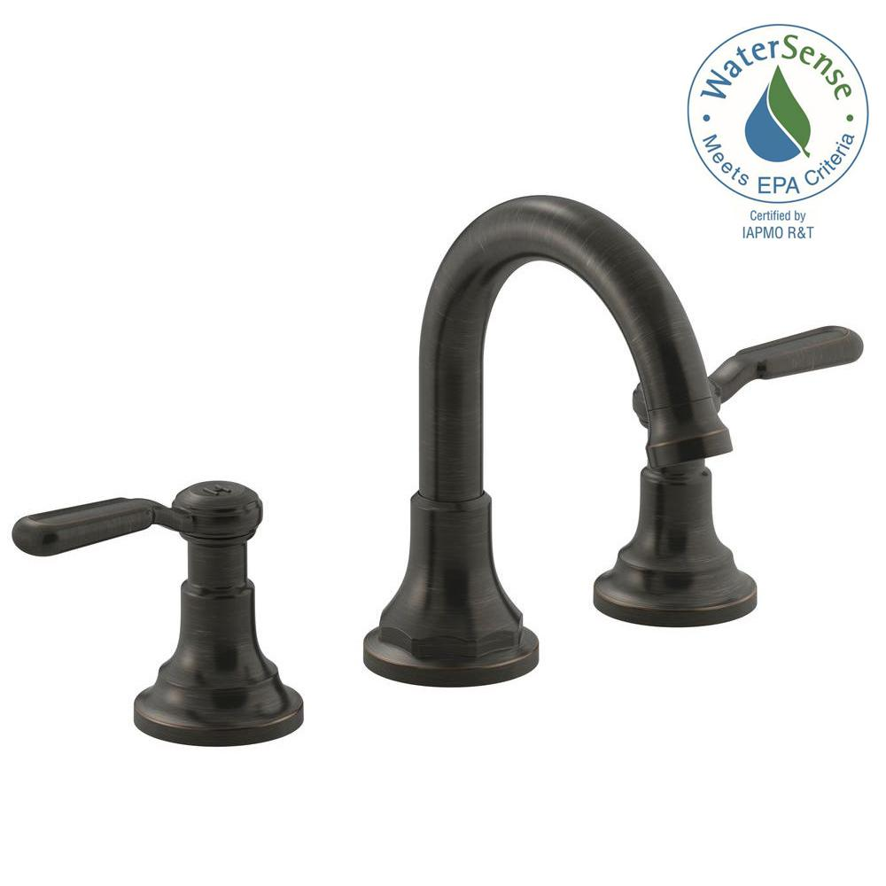 KOHLER Worth 8 in. 2-Handle Widespread Bathroom Faucet in Oil-Rubbed ...