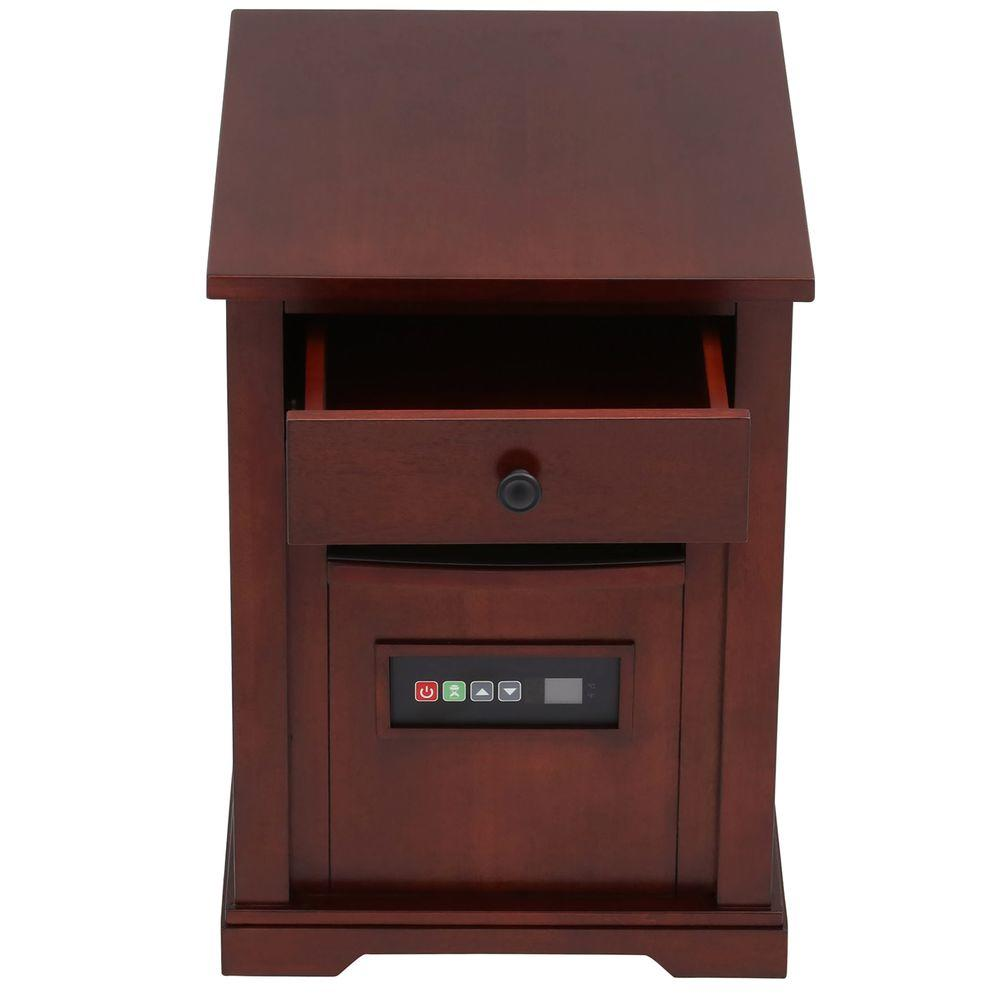 Duraflame 1500-Watt Electric Infrared Quartz Portable Heater with Drawer and Remote Control - Cherry