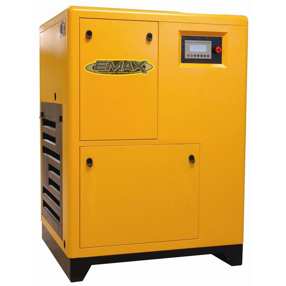 EMAX 7.5 HP 3-Phase Rotary Screw Air Compressor-DISCONTINUED