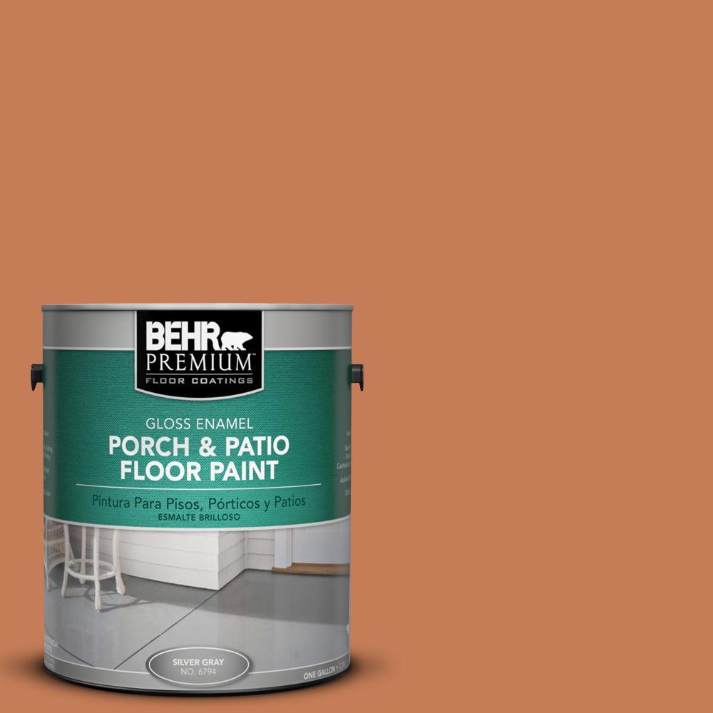 1 gal. #M210-6 Orange Liqueur Gloss Porch and Patio Floor Paint