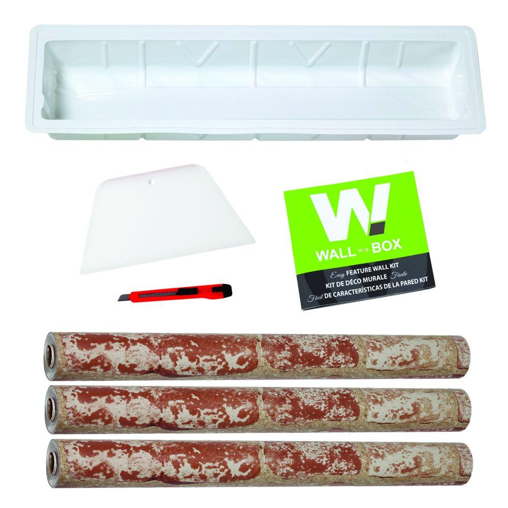 York Wallcoverings Wall In A Box Hit The Bricks Feature Wall-DISCONTINUED