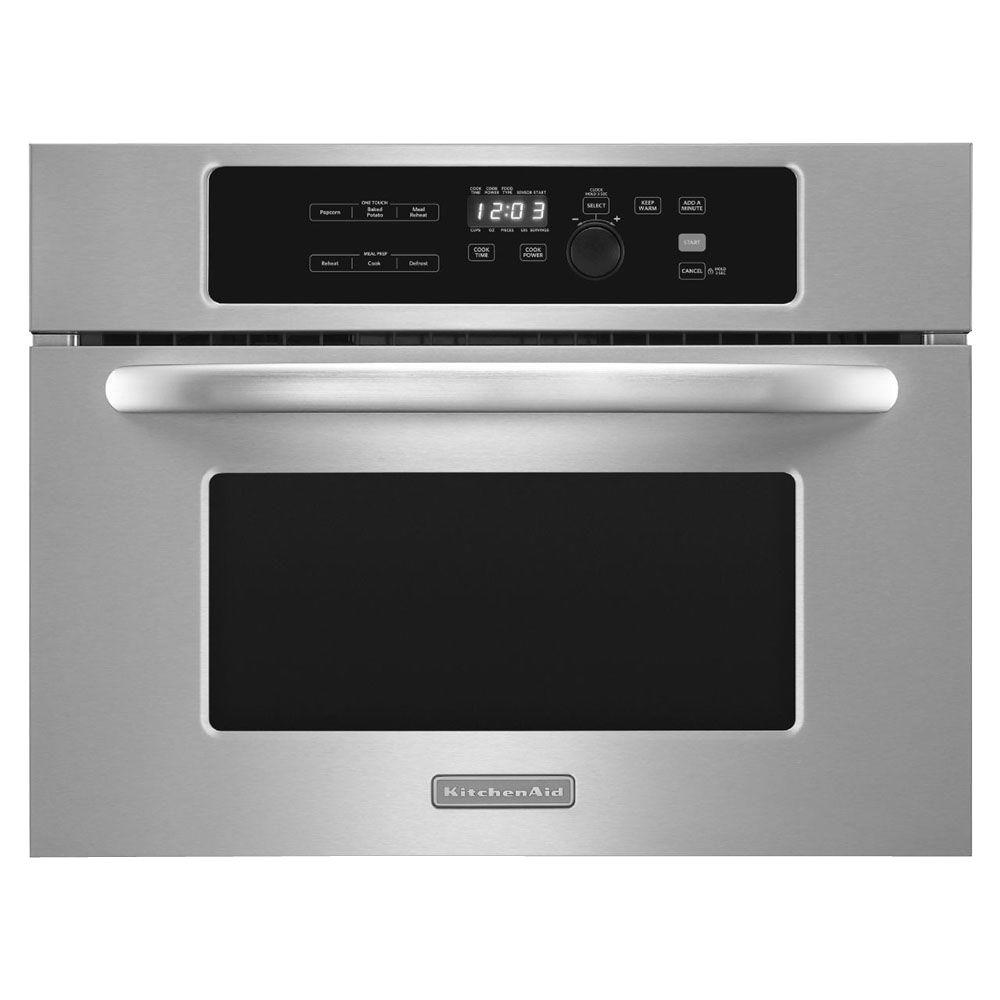 KitchenAid Architect Series II 24 in. W 1.4 cu. ft. Built-In Microwave in Stainless Steel with Sensor Cooking