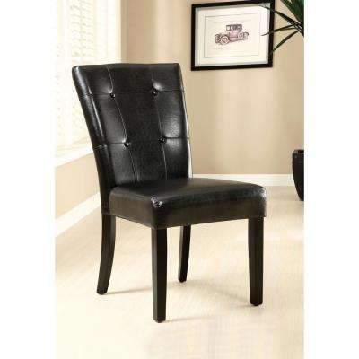 Marion I Black and Espresso Contemporary Style Side Chair (2-Pack)
