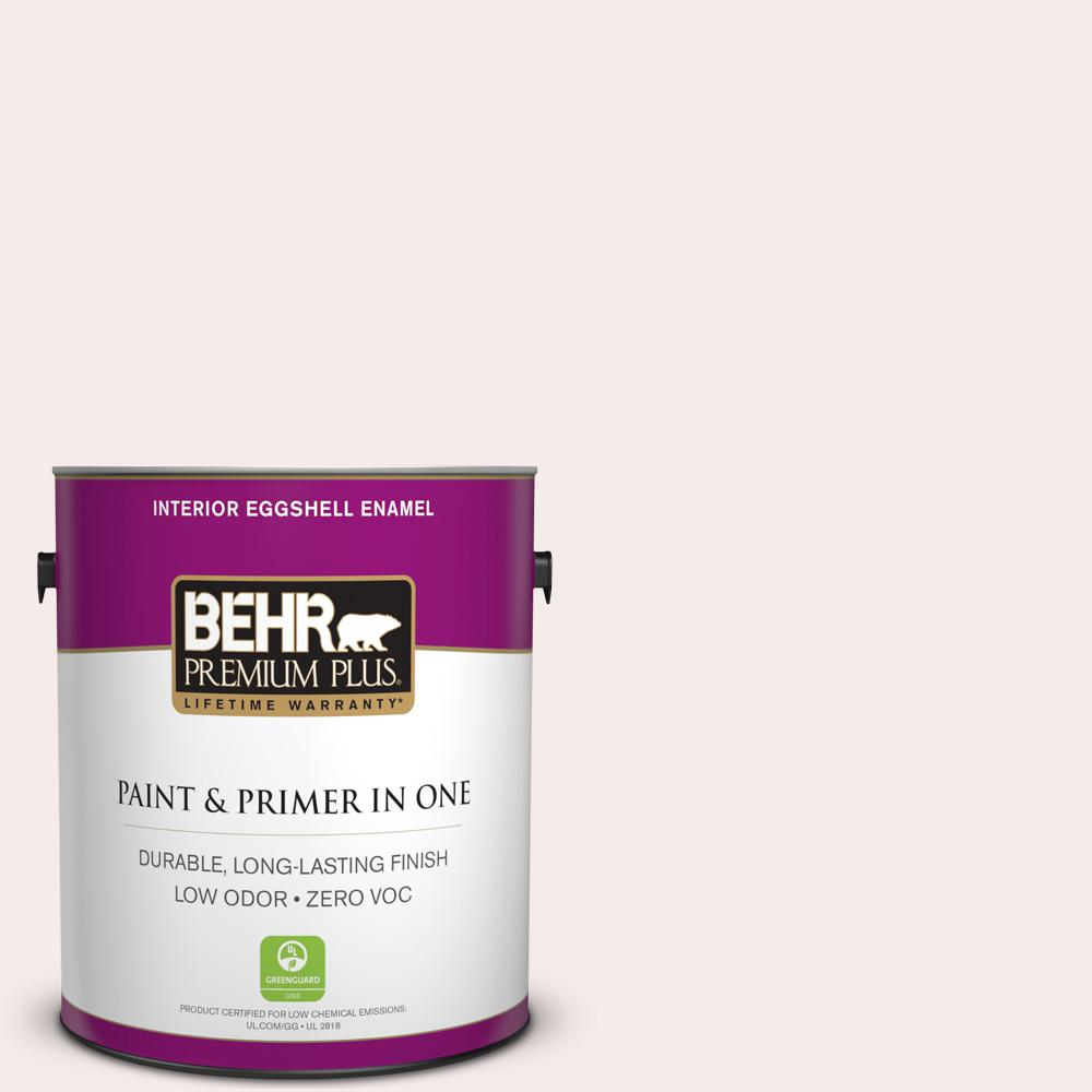 BEHR Premium Plus 1-gal. #RD-W8 Pink Mirage Eggshell Enamel Interior Paint