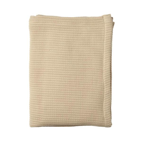 The Company Store Cable Knit Cotton Twin Blanket in Cream 85018-T-CREAM