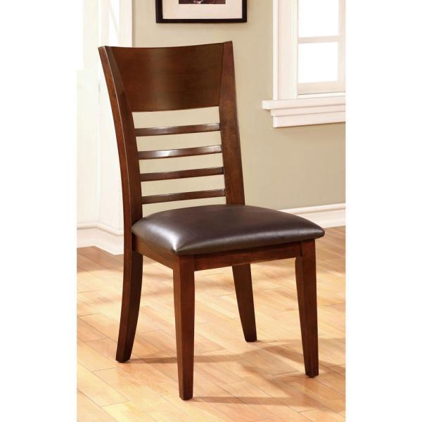 HILLSVIEW I Brown Cherry Transitional Style Side Chair CM3916SC-2PK