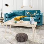 Nonie Distressed White Coffee Table