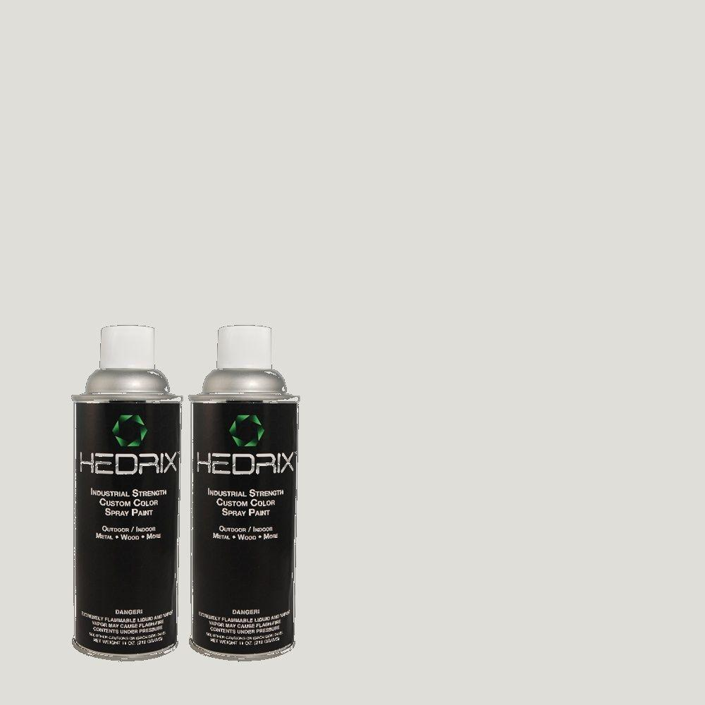 Hedrix 11 oz. Match of PPL-65 Silver Charm Semi-Gloss Custom Spray Paint (2-Pack)