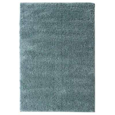 cozy shag collection teal blue 5 ft x 7 ft indoor area rug
