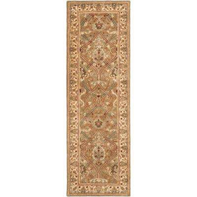 Persian Legend Light Green/Beige 3 ft. x 10 ft. Runner Rug