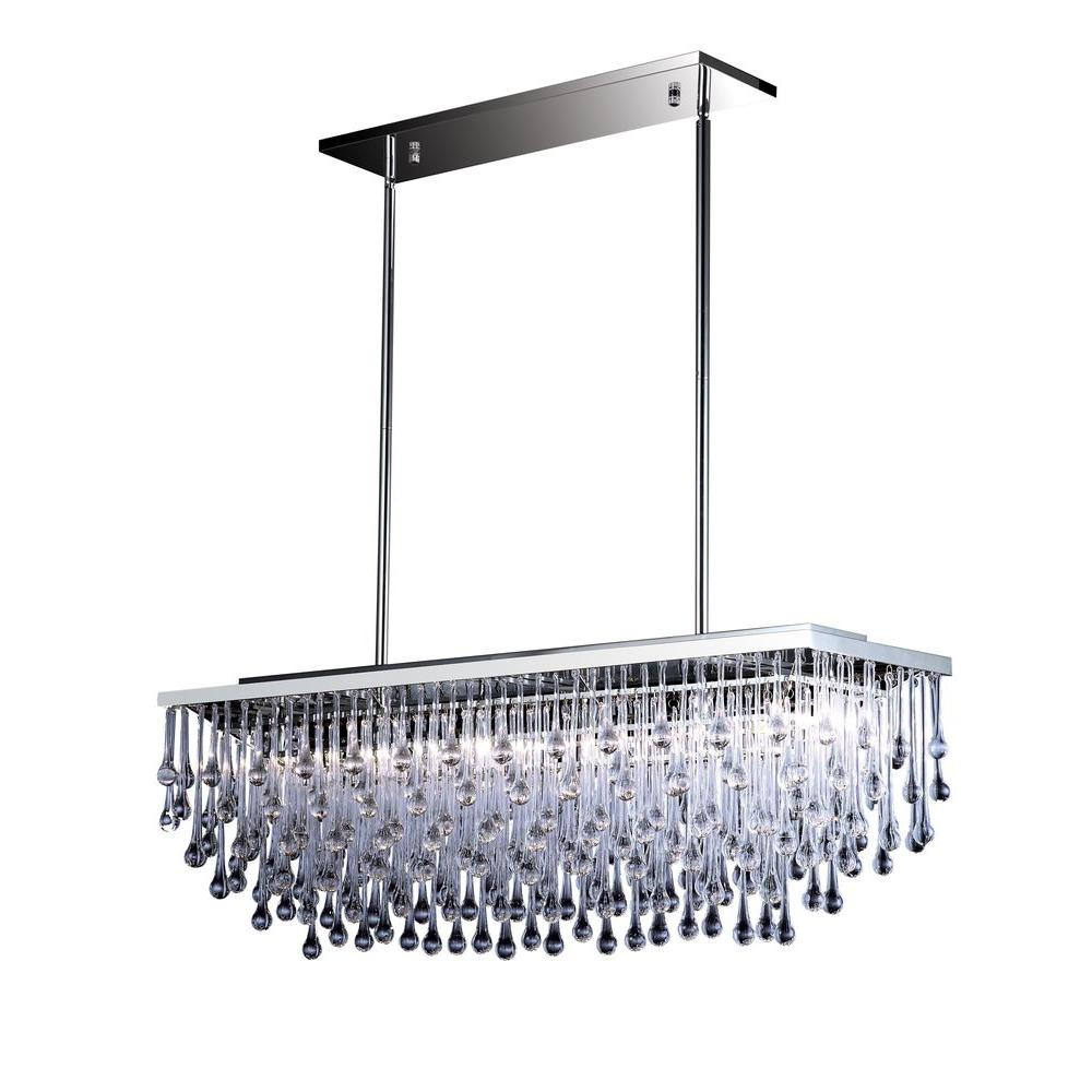 Avenue Lighting 6-Light Polished Nickel Halogen Ceiling Pendant