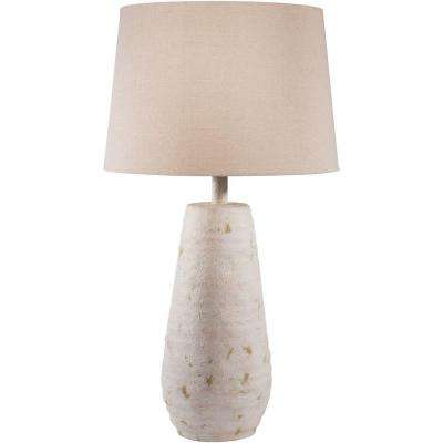 Nelson 26 in. Antiqued White Indoor Table Lamp