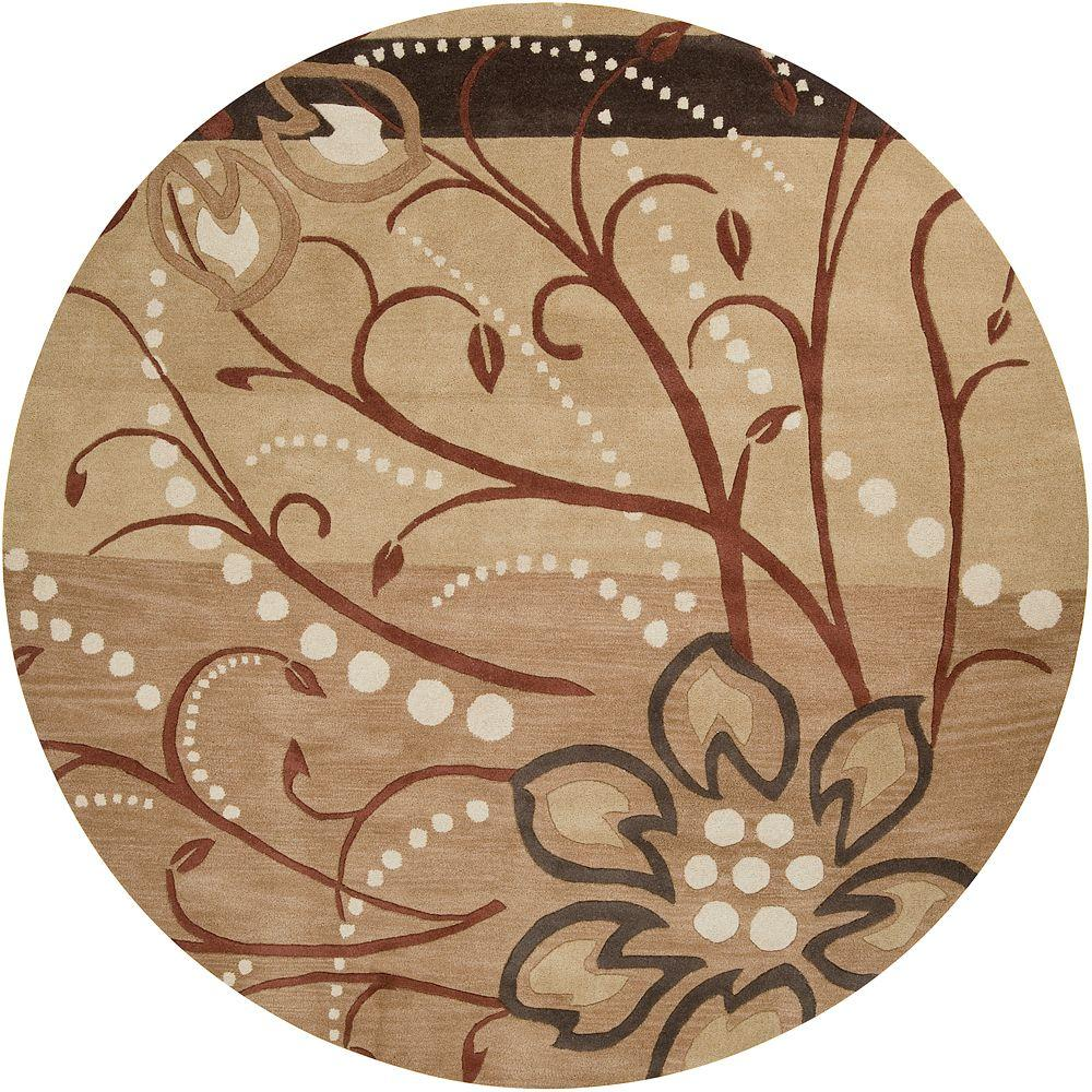 Good Artistic Weavers Fremont Tan Wool 8 Ft. X 8 Ft. Round Area Rug Fremont 8RD    The Home Depot