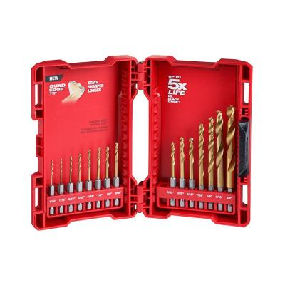 SHOCKWAVE IMPACT DUTY Titanium Drill Bit Set (15-Piece)