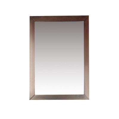 Burnaby 30 in. L x 22 in. W Framed Wall Mirror in Dark Walnut Brown