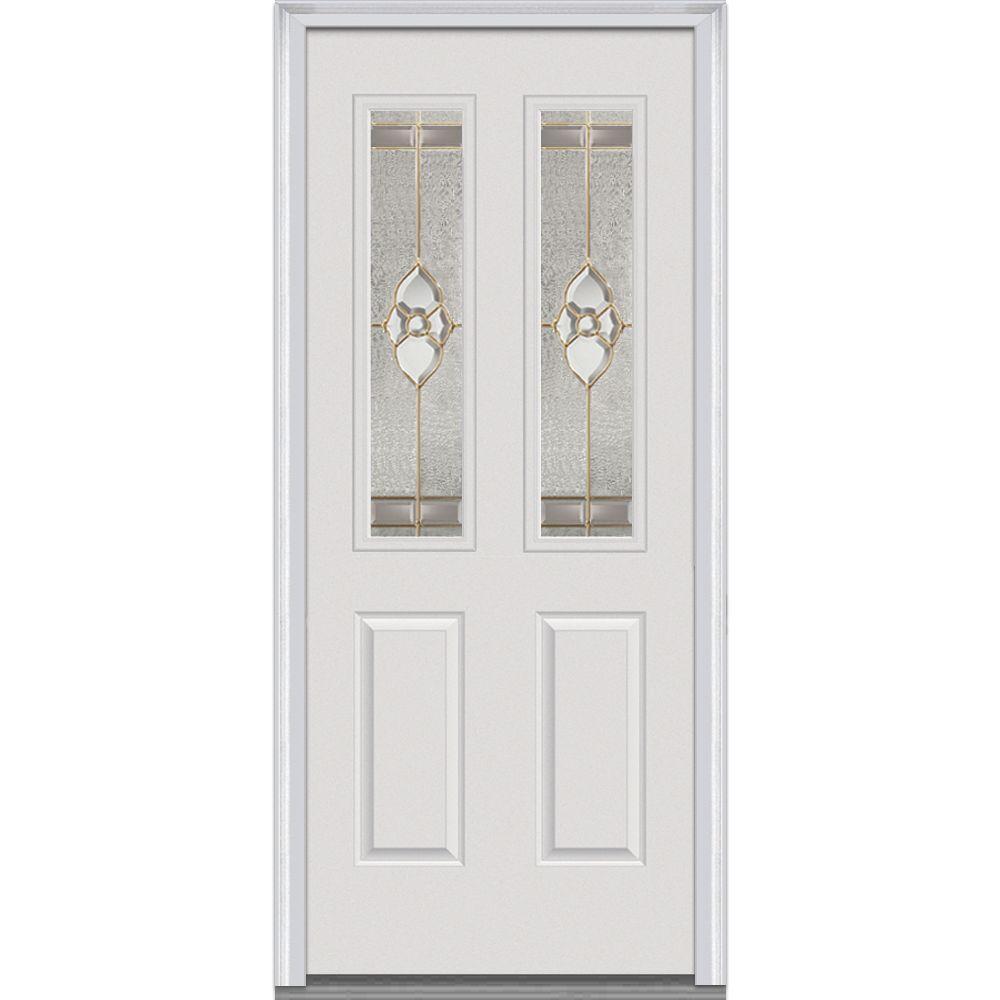mmi door 30 in x 80 in master nouveau left hand 2 lite decorative