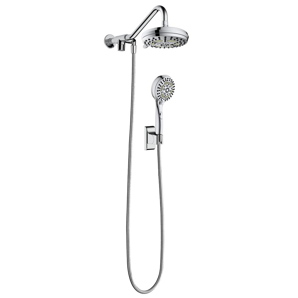 PULSE Showerspas Oasis 6-Spray Hand Shower and Showerhead Combo Kit in Chrome
