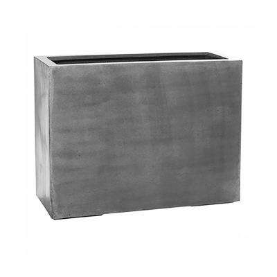 15 in. x 28 in. Matte Grey Fiberstone Rectangular Planter